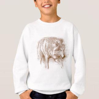 Wolf - hand-draw pencil sweatshirt