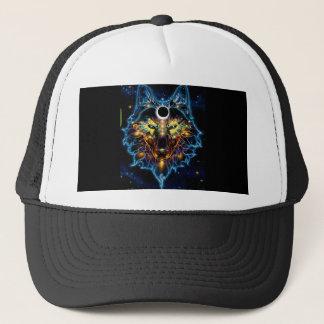 WOLF HAT, TRIPPY, STRONG, COSMIC TRUCKER HAT
