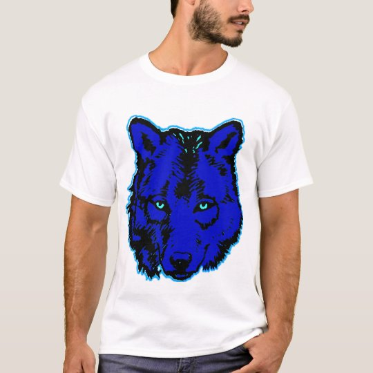 WOLF HEAD BLUE TSHIRT