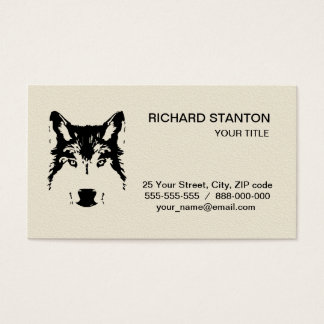 Wolf head business card