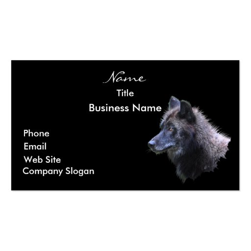 WOLF HEAD Business Card or Profile Card