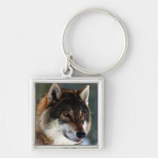 Wolf Head Key Ring
