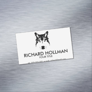 Wolf head magnetic business cards