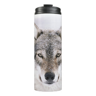 Wolf Head Personalized Thermal Tumbler