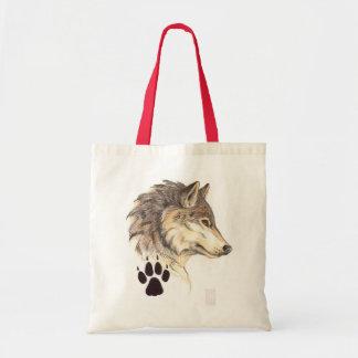 Wolf Head Profile Tote Bag