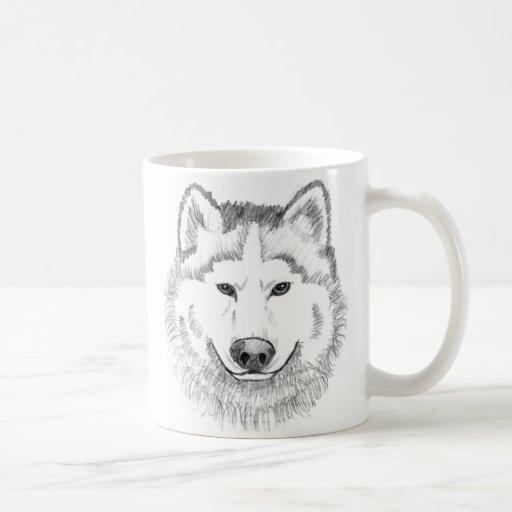 Wolf Head Sketch Coffee Mug