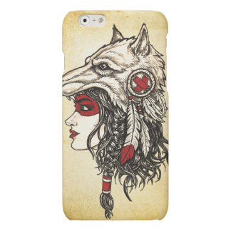 Wolf Headdress iPhone 6 Matte Case iPhone 6 Plus Case
