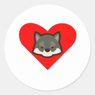 Wolf Heart Stickers
