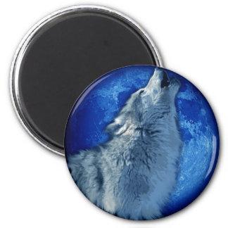 Wolf Howl 6 Cm Round Magnet