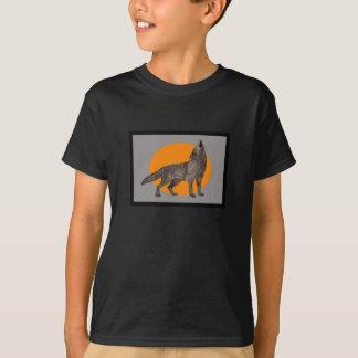 Wolf howl at the moon shirt