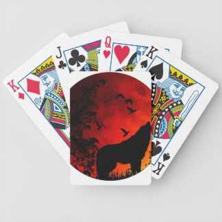 wolf howl bicycle playing cards
