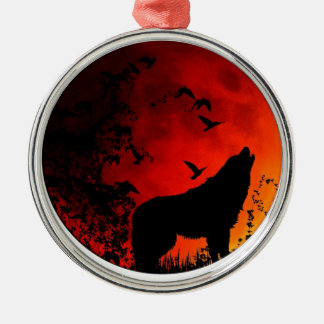 wolf howl christmas ornament