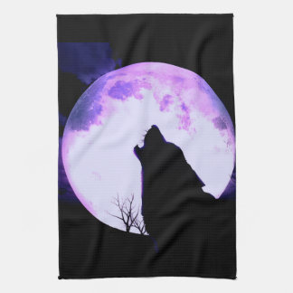 Wolf Howl Kitchen Towel