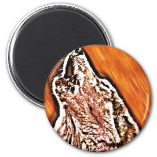 Wolf Howl Refrigerator Magnet