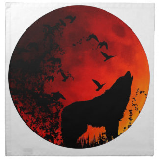 wolf howl napkin