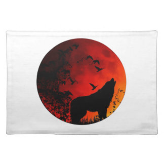 wolf howl placemat