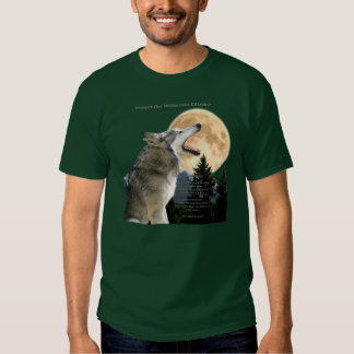 WOLF HOWL & POEM (Wolf Protection) T-Shirt