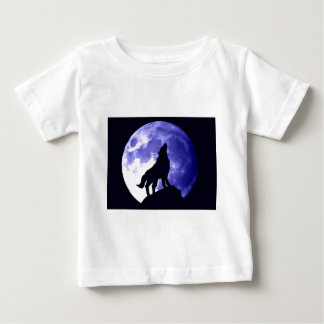Wolf Howling at Moon Baby T-Shirt