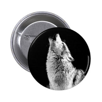 Wolf Howling at Moon Pin
