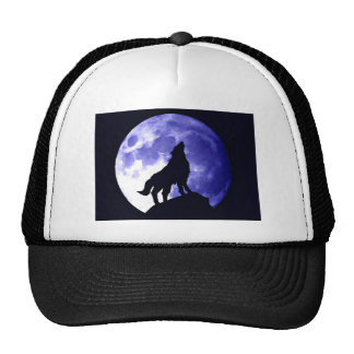 Wolf Howling at Moon Cap