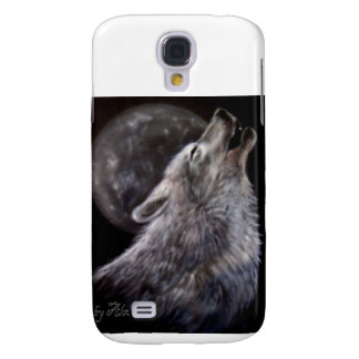 Wolf howling at moon galaxy s4 case