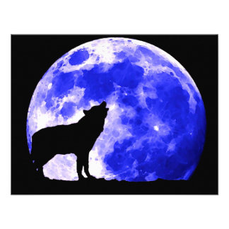 Wolf Howling at Moon Custom Invite