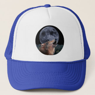 Wolf Howling at the Full Moon - Multi-Products-02 Trucker Hat