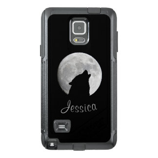 Wolf Howling at The Full Moon, Your Name OtterBox Samsung Note 4 Case