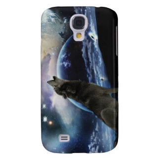 Wolf howling at the moon galaxy s4 case