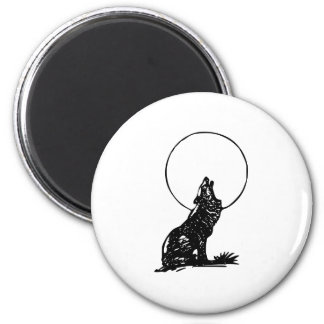 Wolf Howling at the Moon Magnets