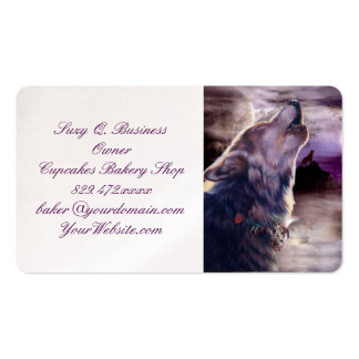 Wolf Howling at The Moon Pack Of Standard Business Cards