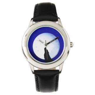 Wolf Howling at the Moon Wristwatch