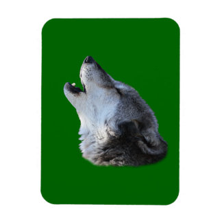 wolf howling flexible magnet