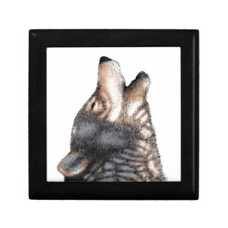 Wolf howling gift box