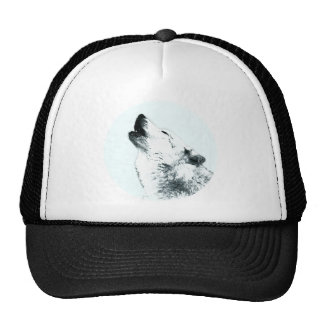 Wolf Howling Mesh Hat