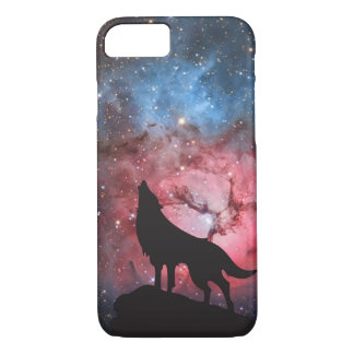Wolf Howling in Galaxy iPhone 8/7 Case