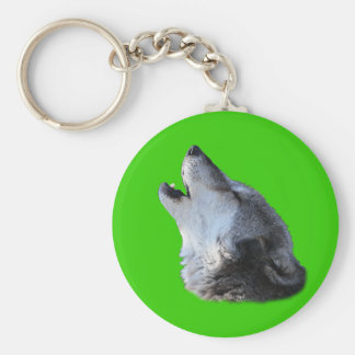 Wolf Howling Keychains