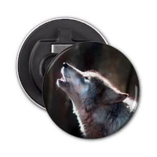 Wolf Pack In Snow Bottle Opener Fridge Magnet