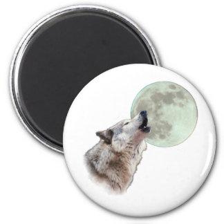 Wolf Howling Fridge Magnet