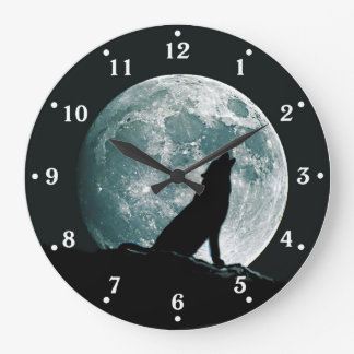 Wolf Howling Wildlife Wall Clock
