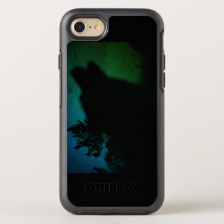 wolf howling with norther lights otterbox OtterBox symmetry iPhone 8/7 case