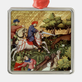 Wolf hunt, from a book christmas ornament