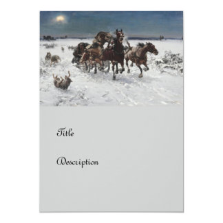 Wolf Hunt in the Snow 13 Cm X 18 Cm Invitation Card