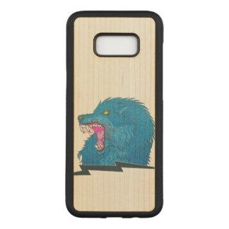 Wolf Illustration Carved Samsung Galaxy S8+ Case