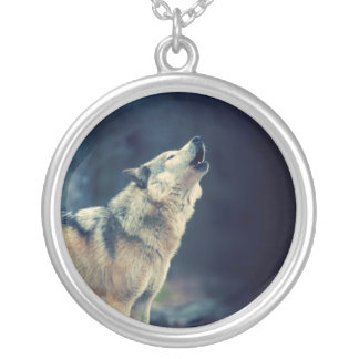 Wolf Image Pendant Animal Photo Necklace
