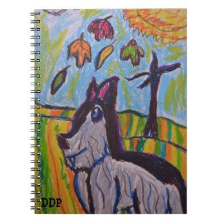 wolf in fall three notebooks