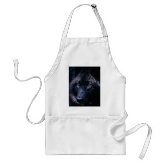 Wolf in moonlight (a) apron