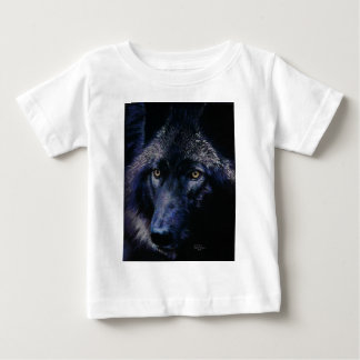 Wolf in moonlight (a) baby T-Shirt