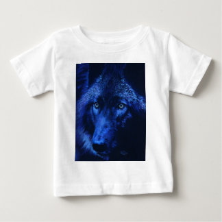 Wolf in moonlight (b) baby T-Shirt