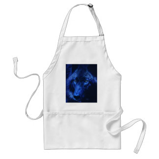 Wolf in moonlight (b) standard apron